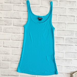 LUCKY BRAND RIBBED TURQUOISE TANK SIZ SMALL
